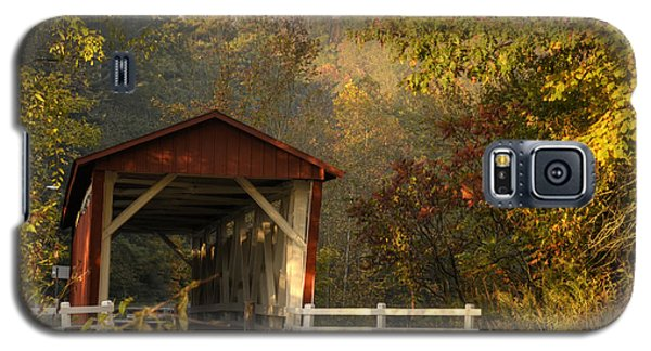 Autumn Covered Bridge Galaxy S5 Case