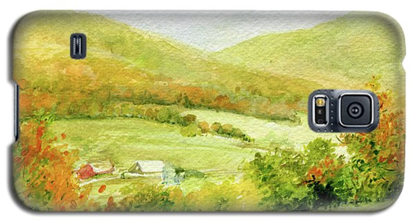 Autumn Farm In Vermont Galaxy S5 Case