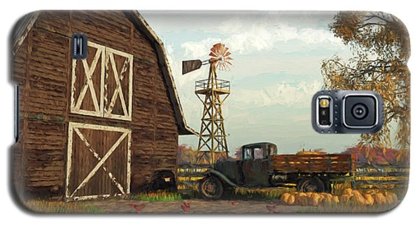 Autumn Farm Scene Galaxy S5 Case