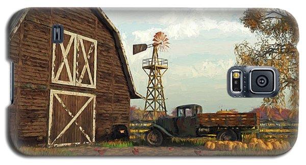 Autumn Farm Scene Galaxy S5 Case by Jayne Wilson
