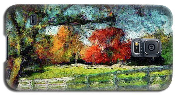 Autumn Field On The Farm Galaxy S5 Case