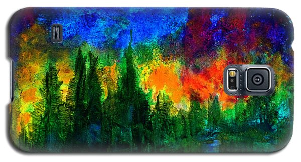 Galaxy S5 Case featuring the painting Autumn Fires by Claire Bull