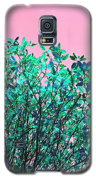 Galaxy S5 Case featuring the photograph Autumn Flames - Pink by Rebecca Harman
