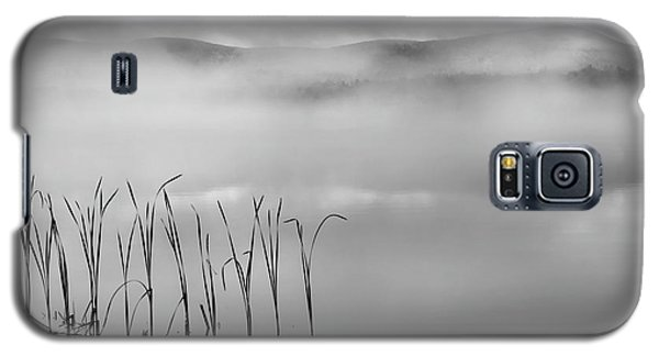 Galaxy S5 Case featuring the photograph Autumn Fog Black And White Square by Bill Wakeley