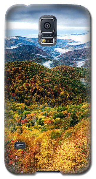 Autumn Foliage On Blue Ridge Parkway Near Maggie Valley North Ca Galaxy S5 Case