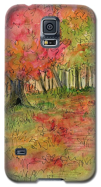 Autumn Forest Watercolor Illustration Galaxy S5 Case