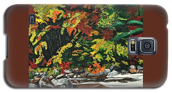 Galaxy S5 Case featuring the painting Autumn Frost by Donna Blossom