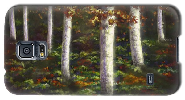 Galaxy S5 Case featuring the digital art Autumn Ghosts by Amyla Silverflame
