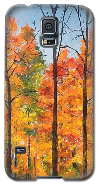 Galaxy S5 Case featuring the painting Autumn In South Wales Ny by Ellen Canfield
