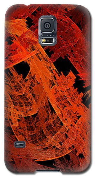 Galaxy S5 Case featuring the digital art Autumn In Space Abstract Pano 2 by Andee Design