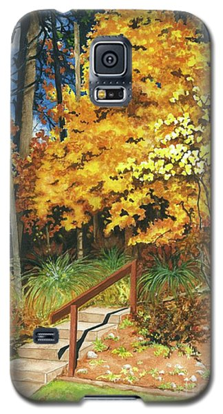 Galaxy S5 Case featuring the painting Autumn Invitation by Barbara Jewell
