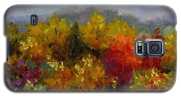 Galaxy S5 Case featuring the painting Autumn Jewels by Chris Brandley