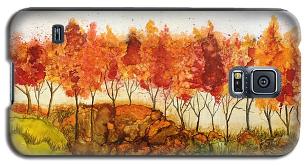 Galaxy S5 Case featuring the painting Autumn Joy by Suzanne Canner