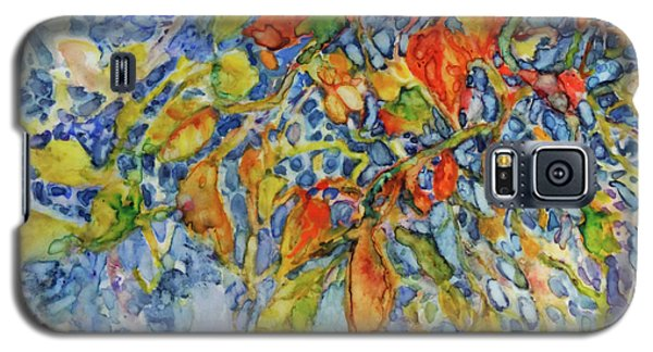 Galaxy S5 Case featuring the painting Autumn Lace by Joanne Smoley
