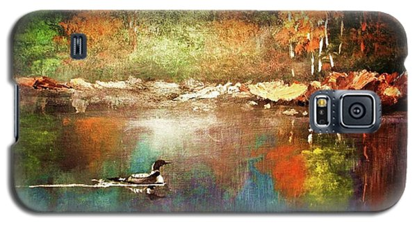 Autumn Lake Reflections Galaxy S5 Case