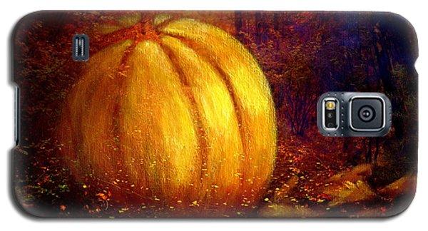 Autumn Landscape Painting Galaxy S5 Case by Annie Zeno