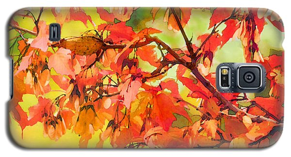 Galaxy S5 Case featuring the digital art Autumn Leaves by Christina Lihani