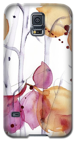 Galaxy S5 Case featuring the painting Autumn Leaves by Dawn Derman