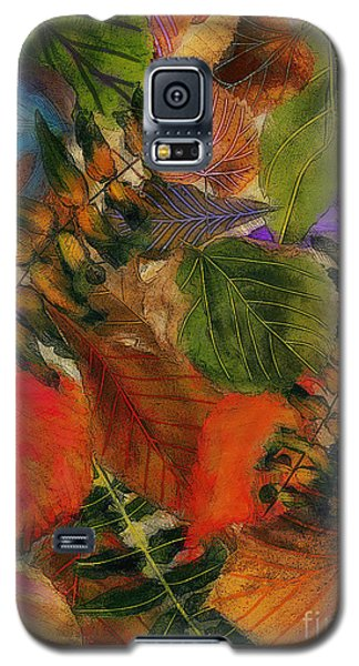 Galaxy S5 Case featuring the digital art Autumn Leaves by Klara Acel