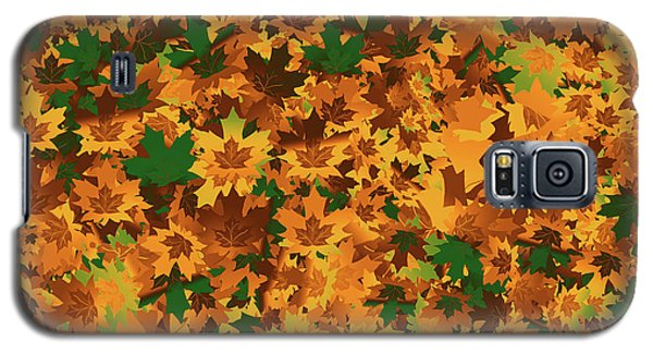 Autumn Leaves Pattern Galaxy S5 Case by Methune Hively