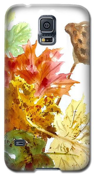 Autumn Leaves Still Life Galaxy S5 Case by Ellen Levinson