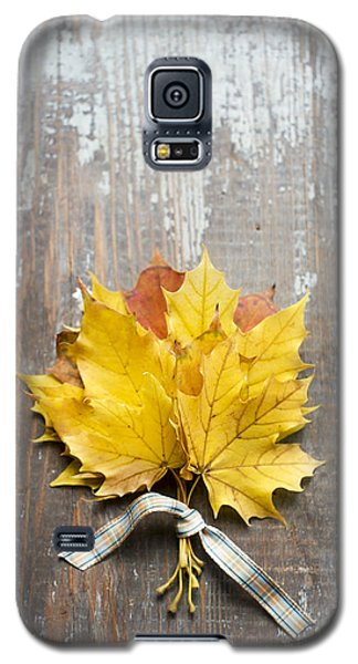 Autumn Leaves Tied With Ribbon Galaxy S5 Case