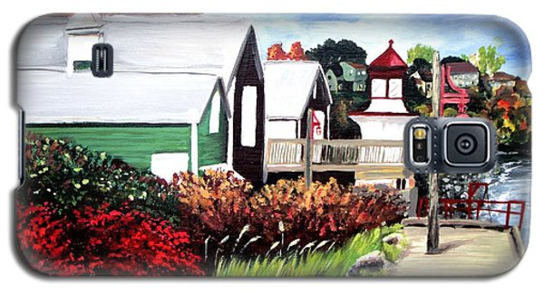 Galaxy S5 Case featuring the painting Autumn Lighthouse Miramichi New Brunswick Canada by Patricia L Davidson