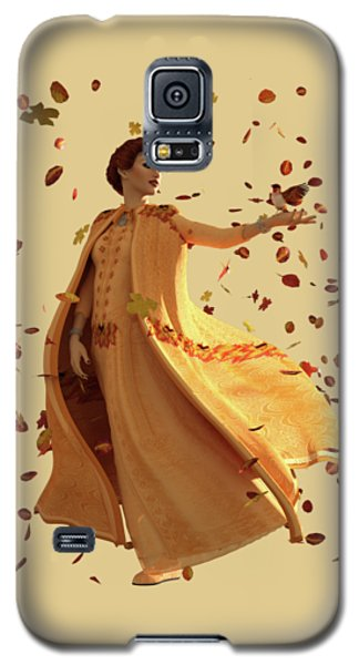 Galaxy S5 Case featuring the digital art Autumn by Methune Hively
