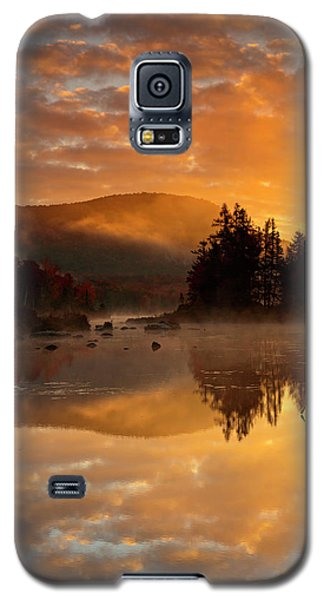 Galaxy S5 Case featuring the photograph Autumn Mist by Mike Lang