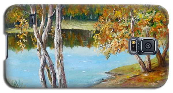 Galaxy S5 Case featuring the painting Autumn by Nina Mitkova