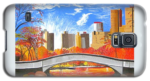 Galaxy S5 Case featuring the painting Autumn Oasis by Donna Blossom