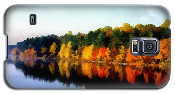 Galaxy S5 Case featuring the photograph Autumn On The Lake by Joseph Frank Baraba