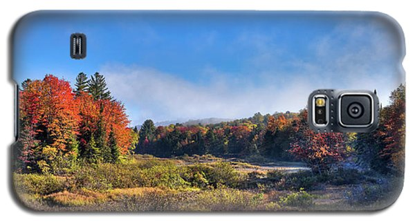 Galaxy S5 Case featuring the photograph Autumn Panorama At The Green Bridge by David Patterson
