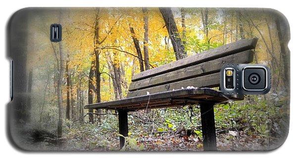 Autumn Park Bench Galaxy S5 Case by Bonfire Photography