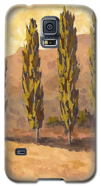 Autumn Poplars Galaxy S5 Case
