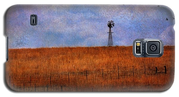 Autumn Prairie Windmill Galaxy S5 Case