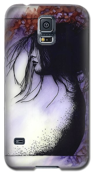 Galaxy S5 Case featuring the painting Autumn by Ragen Mendenhall