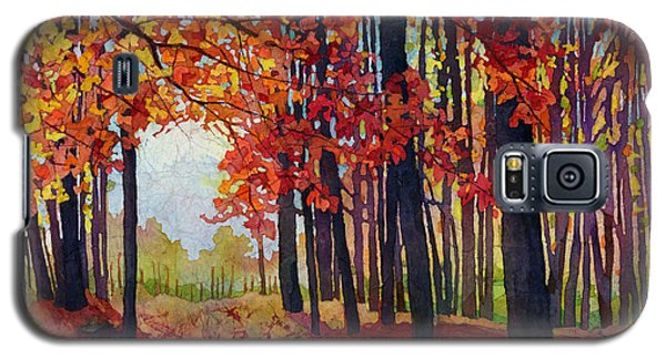 Galaxy S5 Case featuring the painting Autumn Rapture by Hailey E Herrera