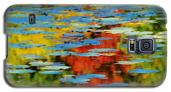 Galaxy S5 Case featuring the photograph Autumn Lily Pads by Diana Angstadt