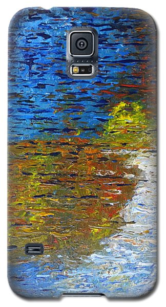 Galaxy S5 Case featuring the painting Autumn Reflection by Jacqueline Athmann