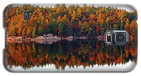 Galaxy S5 Case featuring the photograph   Autumn Reflections by Debbie Oppermann