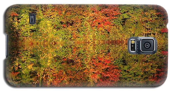 Galaxy S5 Case featuring the photograph Autumn Reflections In A Pond by Smilin Eyes  Treasures