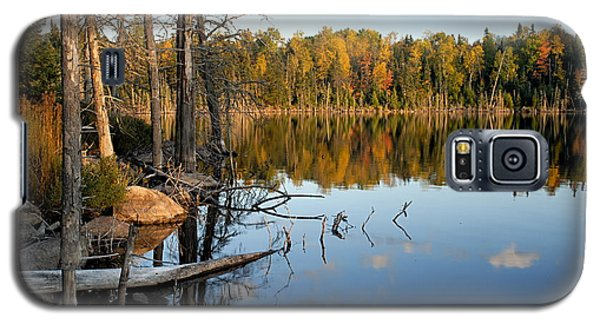 Autumn Reflections On Little Bass Lake Galaxy S5 Case