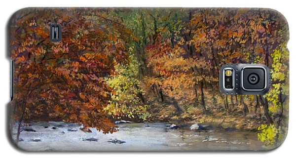 Galaxy S5 Case featuring the painting Autumn River by Jack Skinner
