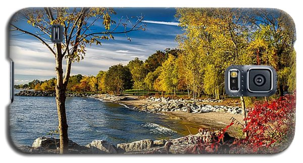 Autumn Scene Lake Ontario Canada Galaxy S5 Case