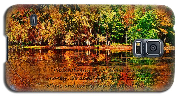 Galaxy S5 Case featuring the painting Autumn Serenity Philanthropy Painted by Diane E Berry