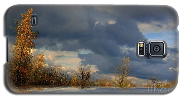 Galaxy S5 Case featuring the photograph Autumn Skies  by Elfriede Fulda