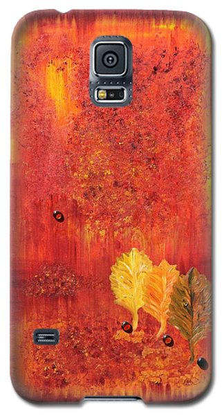 Galaxy S5 Case featuring the painting Autumn by Sladjana Lazarevic
