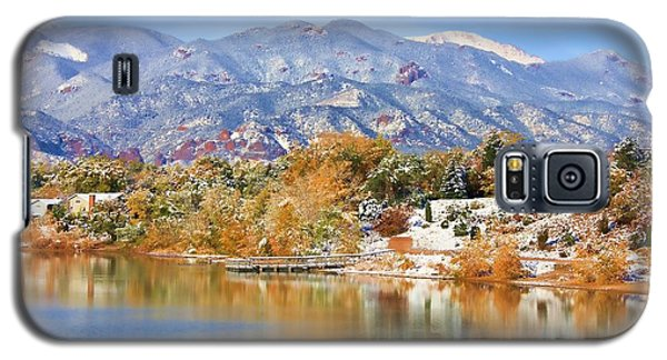 Autumn Snow At The Lake Galaxy S5 Case by Diane Alexander