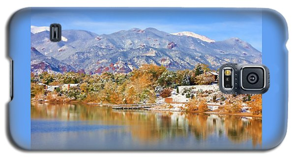 Autumn Snow At The Lake Galaxy S5 Case